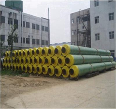 供暖管道用玻璃布缠绕聚氨酯保温钢管技术精