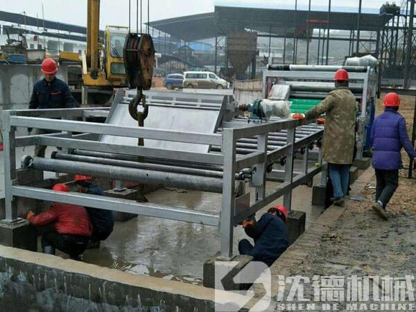 漣水縣帶式壓濾機處理洗砂污泥污泥壓干設備