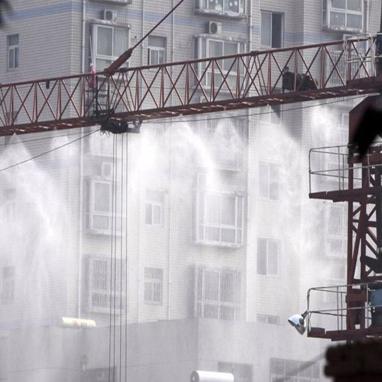 汶川建筑工地圍擋噴淋/圍擋噴霧效果圖